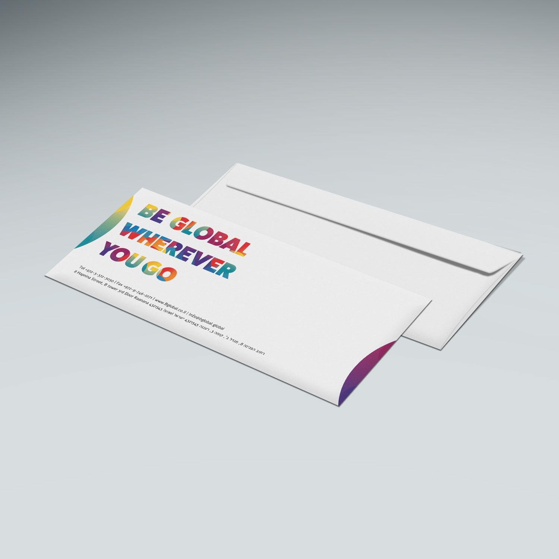 הדפסת מעטפות 23-11 ס״מ / הדפסה צבעונית