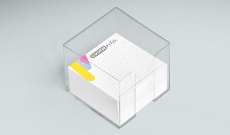 הדפסת פנקסי ממו ממותגים