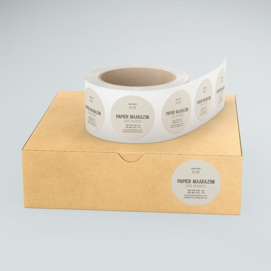 מדבקות נייר בגלילים
